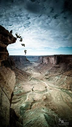 slacklineblog:  WINGSUITING IN MOAB A collection of photos from...