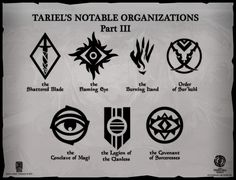Tariel's Notable Organizations - Part 3 by Levodoom.deviantart.com on @DeviantArt