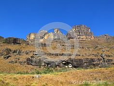 Photo about Mountain landscape at Garden Castle Nature Reserve of uKhahlamba Drakensberg National Park, South Africa. Image of peak, green, southern - 103692254 Mountain Landscape, Nature Reserve, Monument Valley, South Africa, Mount Rushmore, National Parks, Castle, Victoria, Stock Photos