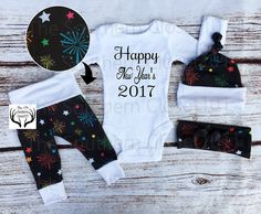 2018 Outfits,Orange,Black,Blue,Red,Green,Pink,Purple Unisex Coming Home Outfit,My First New Year/'s 2018,Fireworks,Baby New Year/'s Outfit