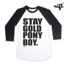 Stay Gold Ponyboy Unisex Baseball 3/4 Sleeve T-shirt by NIFTshirts