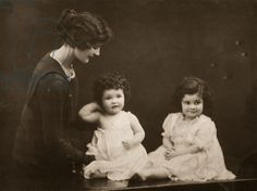 Kakoo (wife of 9th Duke of Rutland) with her daughters Ursula and Isobel