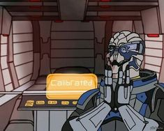 An old, overused joke about Garrus (and his frequent calibrating) from Mass Effect. Mass Effect Funny, Mass Effect Garrus, Mass Effect Art, Saga, Mass Effect Universe, Commander Shepard, Shall We Date, Mystic Messenger, Death Note