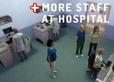 More Staff at Hospital by An_dz at Mod The Sims via Sims 4 Updates