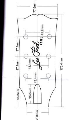Image result for les paul headstock template pdf