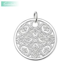 Pendant White Ornament Pave 925 Sterling Silver Fashion Jewelry For Women Thomas Style Glam Jewelry Fashion Gift Fit Ts Necklace #Affiliate