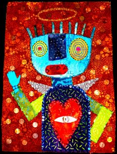 outsider art quilt | Love Guardian outsider art quilt by STUCKY by STUCKYOUTSIDERART, $400 ...