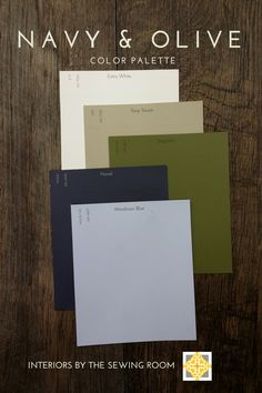 Olive and Navy Color palette for a capsule wardrobe Olive Green Couches, Olive Green Bedrooms, Olive Bedroom, Bedroom Green, Master Bedroom, Olive Living Rooms, Navy Living Rooms, Living Room Green, My Living Room