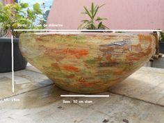 BOWL Peças em cerâmica*Impermeabilizada*Mosaico de azulejos  Pintura texturizada - Pátina Mexicana