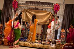 A Hindu Wedding photographed by Kim Rix. Natural and reportage wedding photography.