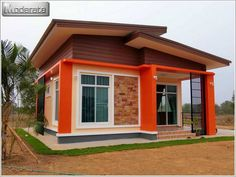 Comfort On A Budget: Two-Bedroom Single Storey House - House And Decors Small Cottage Designs, Small Cottage Homes, Small House Layout, House Layouts, Small House Images, Modern Bungalow House, Modern Houses, Model House Plan, House Plans
