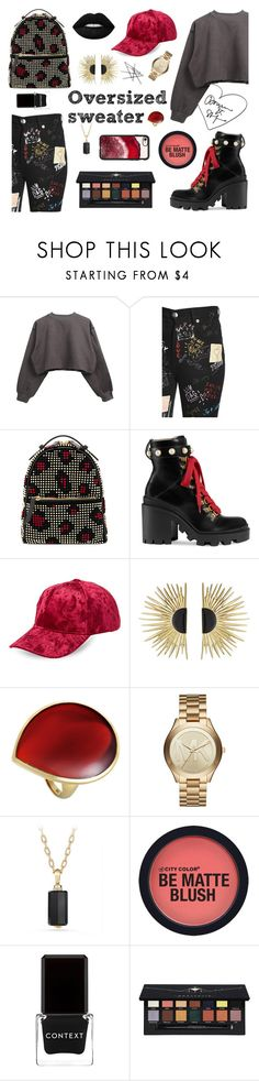 Oversized sweater by anestteziya on Polyvore featuring мода, Dolce&Gabbana, Gucci, Les Petits Joueurs, Aurélie Bidermann, Michael Kors, Ippolita, David Yurman, C-LECTIVE and Casetify