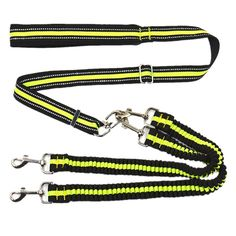 Pets Dog Leash Coupler Double Dog Walker Lead Elastic Two Dogs Leash Splitter with Reflective Strip * Review more details here : Leashes for dogs