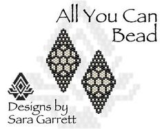 Peyote Earrings Pattern 193 Bead Weaving INSTANT DOWNLOAD PDF Odd Count