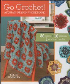 crochet books | Go Crochet Granny Squares Motifs Afghans Patterns Book Hexagon ...
