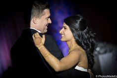 Gujarati - American Wedding Reception - Candid Photo of Indian Bride and American Groom in a Mixed/Fusion Wedding in Westin Morristown, NJ along with Elegant Affairs Volcanik Entertainment, Makeup artist Sanjana Vaswani, Chand Palace - PhotosMadeEz - Best photographers for Photo Journalism/Editorial Wedding Photography. Featured in Maharani Weddings.