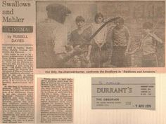 'The Observer' review of 'Swallows & Amazons' found by Durrants of Herbal Hill on 7th April 1974