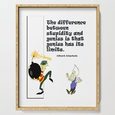 The difference between stupidity and genius is that genius has its limits Serving Tray by edream Different, Cute Gifts, Stupid, Letter Board, Einstein, Tray, Lettering, Beautiful Gifts, Trays