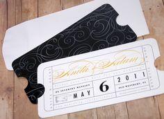 Definitely having wedding invitations with this theme.