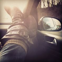 Road Trip. Feet up. Stress Out, Relaxation IN!