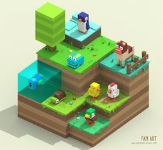 "William Santacruz en Twitter: ""My Crossy Road fan art #crossyroad #crossy #game #gamedev #gamedesign #gameart #voxel #magicavoxel #3d #3dmodeling #pixelart #RETROGAMING https://t.co/YmrJwxewb7"""