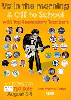Fantastic Back To School Sale at Teachers Pay Teachers on August 3rd and 4th--You can get up to 28% Off!