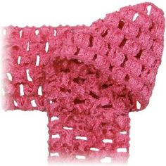 Crochet by the Yard - soft stretchy fabric, headbands- Hot pink