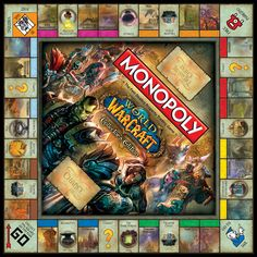 World of Warcraft Collector's Edition Monopoly board game, official game board.       Buy it now! http://www.amazon.com/Monopoly-World-Warcraft-Collectors-Edition/dp/B0079PC0EI/ref=sr_1_1?s=toys-and-games=UTF8=1373491725=1-1=world+of+warcraft+monopoly  Want more info? http://www.usaopoly.com/games/monopoly-world-warcraft-collectors-edition