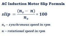 formula to calculate slip difference & slip of an induction motor