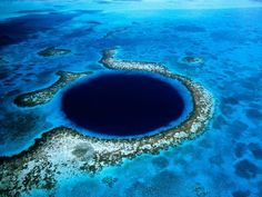 Strange Places: Blue holes - A sudden drop in water elevation creates these deep water holes.
