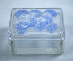 R Lalique Bluets Box No 99 circa 1936 in Pottery & Glass, Glass, Art Glass, French, Lalique | eBay