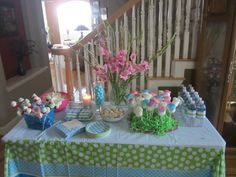 Snack table at spa party #spaparty #snacks