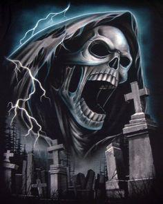 Screaming Grim Reaper T-shirt: click to enlarge