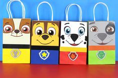 Paw Patrol Favor Bag Instant Download 8 by SimplyMadewithSam