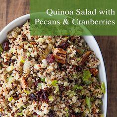 Quinoa Salad with Pecans and Cranberries.