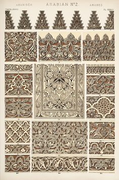 Jones, Owen, 1809-1874. / The grammar of ornament  (1910)  Arabian ornament