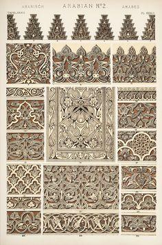 Jones, Owen, 1809-1874. / The grammar of ornament  (1910)  Arabian ornament