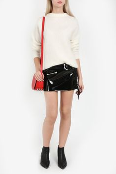 Anthony Vaccarello Lace Up Patent Mini Skirt Anthony Vaccarello, Alexander Wang, Leather Skirt, Mini Skirts, Lace Up, Punk, Shopping, Clothes, Collection