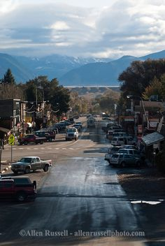 Ennis, Montana, main street, Just spent a quick weekend getaway in Ennis. Very friendly town and I definitely will return in the summer to do some fishing.