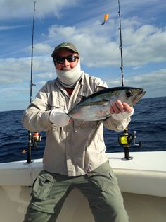 Fishing Report for Feb. 19: Today we fished a full day! We started off by catching some live Ballyhoo. We then put our kites out just off the edge of the Reef. We caught a nice Blackfin Tuna and lots a Cero Mackerel next to the boat and a couple of Bonitas. We then finally had a Sailfish bite which we fought for about 25 minutes before we caught and tagged him! We then anchored down for some Yellowtail Snapper for some more dinner before headed in.