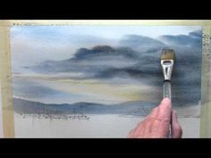How To Paint A Stormy, Atmospheric Sky In Watercolors - YouTube