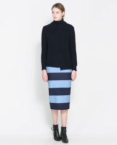Image 1 of STRIPED PENCIL SKIRT from Zara
