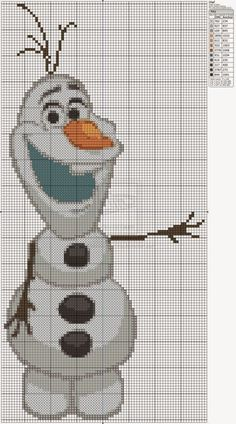 Tutoriales y DIYs: Punto de cruz: Olaf