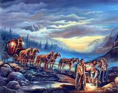 Extremely beautiful! This beautiful wall poster will definitely helps in creating a bright and cheerful ambiance into your home. This poster captures the image of night scene where cowboys with their stagecoach want to take some rest in between the journey are sure to grab lot of attention. We offer durable quality product with excellent color accuracy. Order this poster today and enjoy your surroundings.