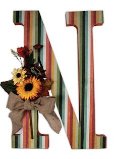 Crafts Direct Blog: Paper Mache Letters. Embellish w/ flowers!