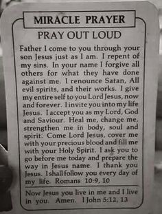 Prayer for salvation to share with lost souls.