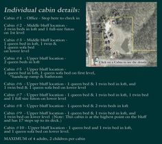 Bluff Cabins ~ Savanna, Illinois ~ OUR CABINS