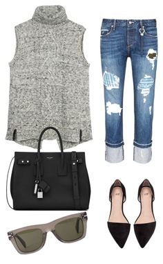 """Untitled #71"" by mikai-toot on Polyvore featuring Fat Face, Tortoise, Yves Saint Laurent and CÉLINE"