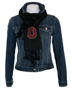 Amazon.com: Collegiate Fashionista Ohio State University Pashima, Versatile Woman's Scarf, Rhinestone Embellished with School Logo: Clothing