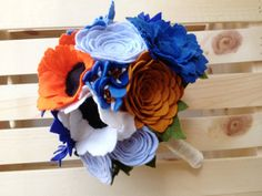 Wildflower bridal bouquet by handmadecolectibles on Etsy, $150.00